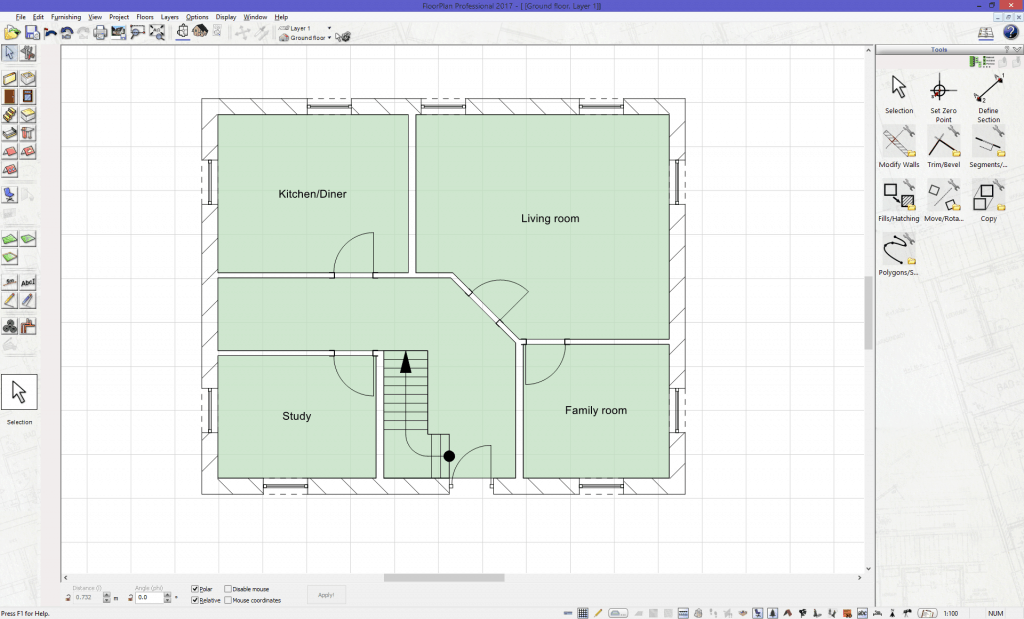 Floor Plan in 2D Mode