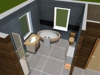 3D bathroom with tiles