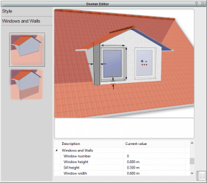 selecting different dormers