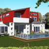 party house with pool 3D model