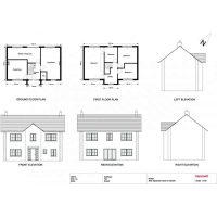planning elevation 2D drawings