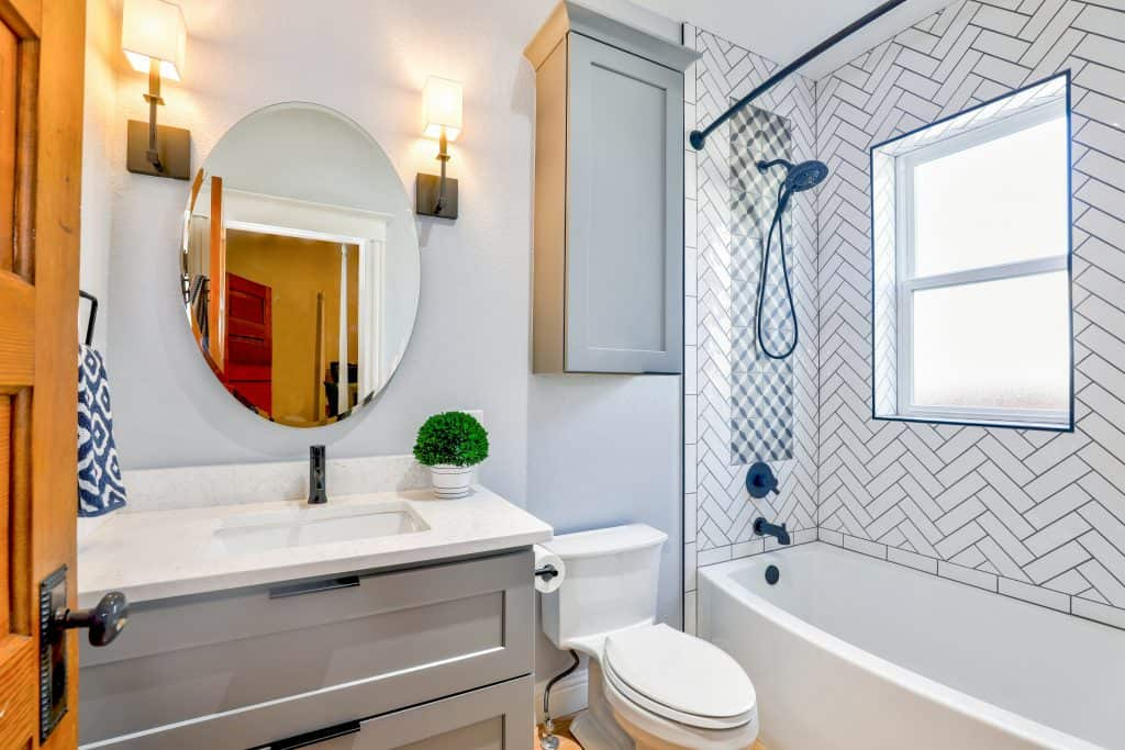 Floating Wall Cabinets or Shelves in the Bathroom