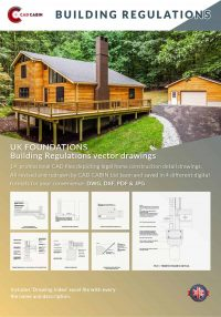 Foundations english builduing regulations cad drawing pack