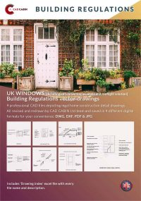 windows english builduing regulations cad drawing pack