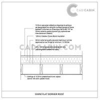 cad drawings pack UK building regulations dorm warm flat roof