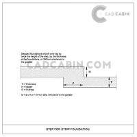 Foundation cad drawings pack UK building regulations step 4 strip