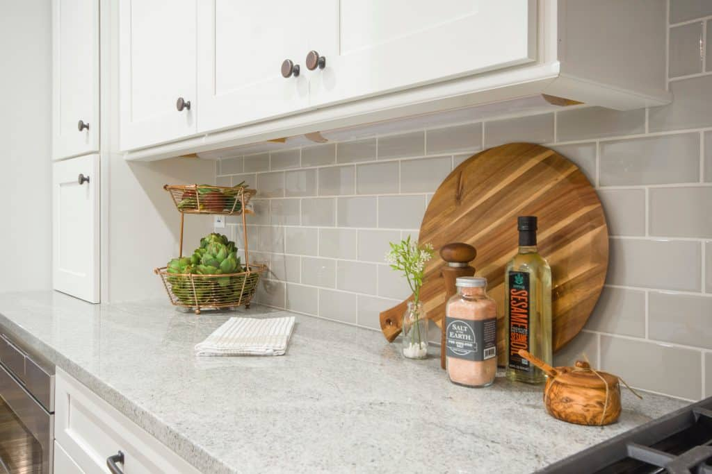 Kitchen with Grey Countertop