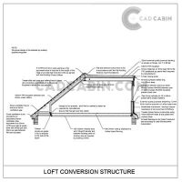 cad drawings pack UK building regulations loft conversion structure