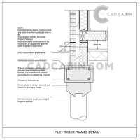 Foundation cad drawings pack UK building regulations Pile Timber Frame Detail