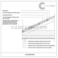 cad drawings pack UK building regulations pitched roof insulation ceiling