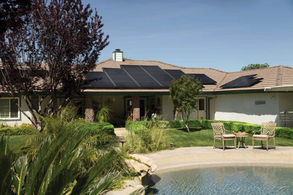 Solar Panels installed in a Home