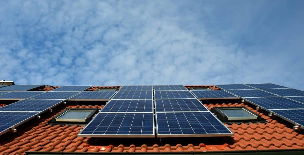 Solar PV Panels installed on the roof