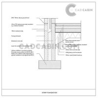 Foundation cad drawings pack UK building regulations Strip-Foundation