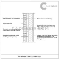 cad drawings pack UK building regulations timber frame wall