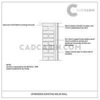 cad drawings pack UK building regulations existing solid block upgrade