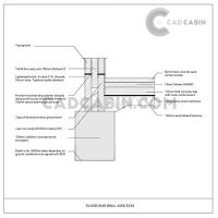Foundation cad drawings pack UK building regulations Wall Floor Junction Detail