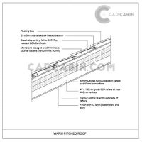 cad drawings pack UK building regulations warm pitched roof insulation