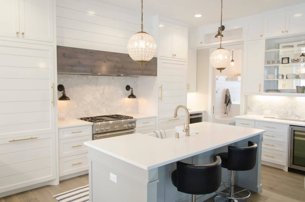 A well-lit kitchen  - Home Lighting Tips