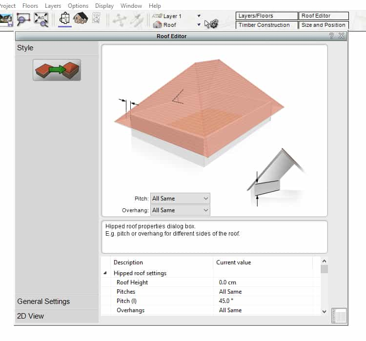 Roof Style Editor